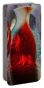 Carmellas Red Vase 1 Portable Battery Charger by Kate Word