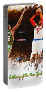 Carmelo Anthony Of The New York Knicks Portable Battery Charger