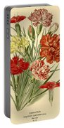 Carnations Portable Battery Charger by Philip Ralley