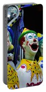 Carnival Clowns Portable Battery Charger by Kaye Menner