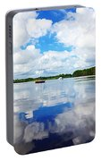 Carolina Blue- Washington Nc Portable Battery Charger by Joan Meyland