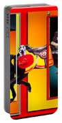Carousel Horse Fireman 04 In Teal Portable Battery Charger