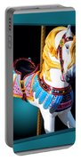 Carousel Horse White Portable Battery Charger
