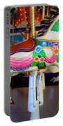 Carousel Horse With Flower Drape Portable Battery Charger