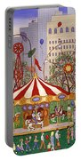Carousel In City Park Portable Battery Charger