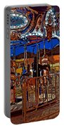 Carousel Line Art Portable Battery Charger