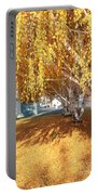Carpet Of Yellow Leaves Portable Battery Charger