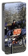 Carriage Driver - Central Park - Nyc Portable Battery Charger