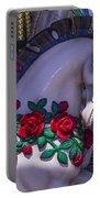 Carrsoul Horse With Roses Portable Battery Charger