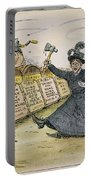 Carry Nation Cartoon, 1901 Portable Battery Charger
