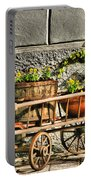 Cart And Flowers In Slovenia Portable Battery Charger