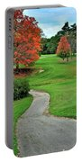 Cart Path Portable Battery Charger by Frozen in Time Fine Art Photography