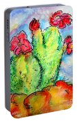 Cartoon Cactus Portable Battery Charger