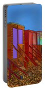 Cartoonised Beach Huts Portable Battery Charger