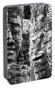 Carved Stone Faces In The Khmer Temple Portable Battery Charger