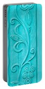 Carved Turquoise Door Portable Battery Charger