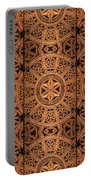 Carved Wooden Cabinet Symmetry Portable Battery Charger