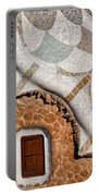 Casa Del Guarda Details In Park Guell Portable Battery Charger