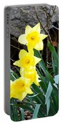 Cascade Of Daffodils Portable Battery Charger