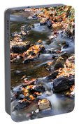Cascading Autumn Leaves On The Miners River Portable Battery Charger
