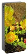 Cascading Prickly Pear Blossoms Portable Battery Charger