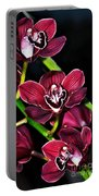 Cascading Red Orchids Portable Battery Charger