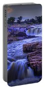 Cascading Waterfalls At Sunset Portable Battery Charger