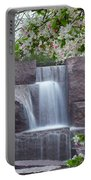 Cascading Waters At The Roosevelt Memorial Portable Battery Charger