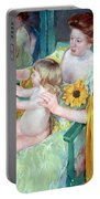 Cassatt's Mother And Child Portable Battery Charger