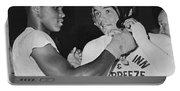 Cassius Clay And Johansson Portable Battery Charger