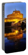 Castel Sant'angelo And The Tiber River Portable Battery Charger