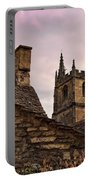 Sunset At Castle Comb Church - Wilshire England Portable Battery Charger