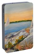 Castle Hill Light House Newport Ri Portable Battery Charger
