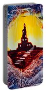 Castle Rock Silhouette Painting In Wax Portable Battery Charger
