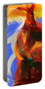 Cat Abstract Art Portable Battery Charger by Pixel Chimp