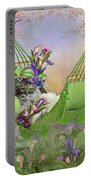 Cat In Calla Lily Hat Portable Battery Charger