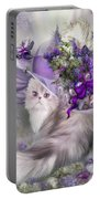Cat In Easter Lilac Hat Portable Battery Charger