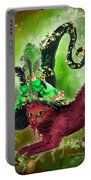 Cat In Fancy Witch Hat 2 Portable Battery Charger