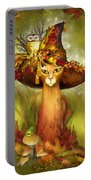 Cat In Fancy Witch Hat 3 Portable Battery Charger