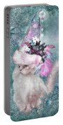 Cat In Snowflake Hat Portable Battery Charger