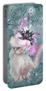Cat In The Snowflake Santa Hat Portable Battery Charger
