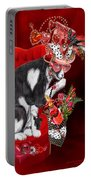 Cat In The Valentine Steam Punk Hat Portable Battery Charger