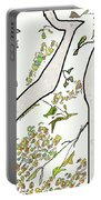 Cat In Tree White Background Portable Battery Charger