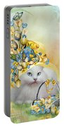 Cat In Yellow Easter Hat Portable Battery Charger