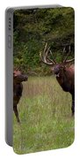 Cataloochee Elk Bull And Cow Portable Battery Charger