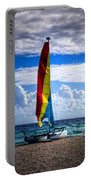 Catamaran At The Beach Portable Battery Charger