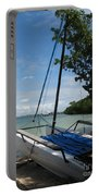 Catamaran On The Beach Portable Battery Charger