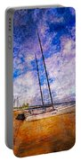 Catamarans At The Lake Portable Battery Charger by Debra and Dave Vanderlaan