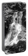 Cataract Falls Smoky Mountains Bw Portable Battery Charger