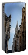 Catching A Glimpse Of Grand Place Brussels Belgium Portable Battery Charger